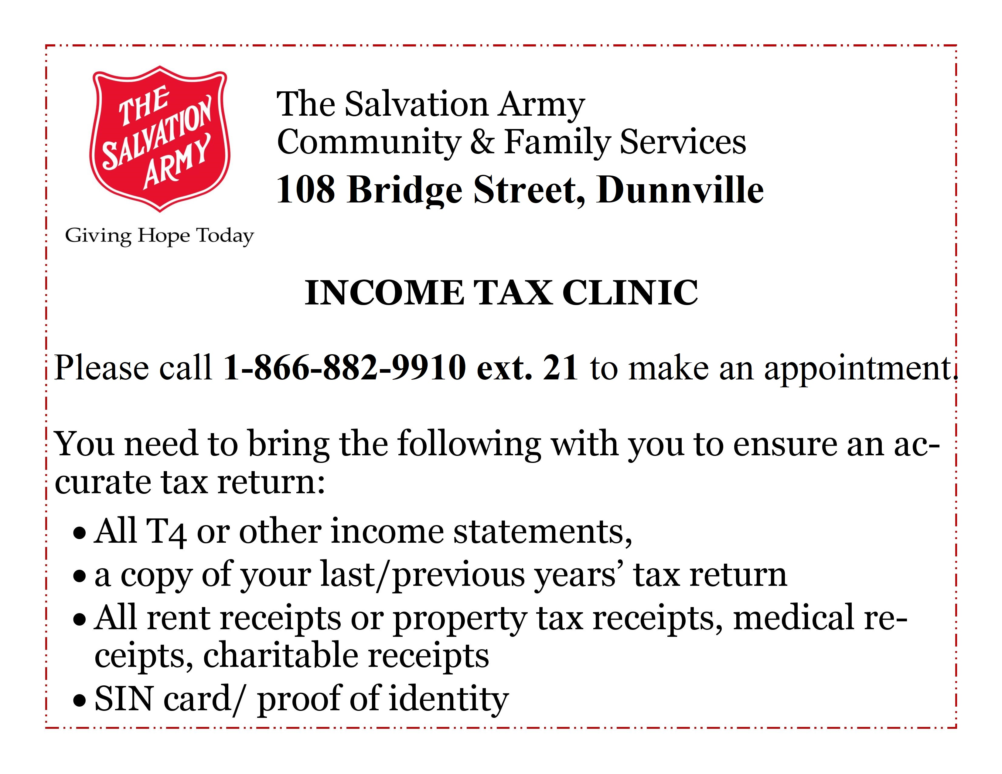 Dunnville Income Tax Clinic